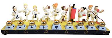 sports menorah karate menorah hanukkah