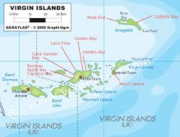 map of the bvi bviwaves surfing guide to the islands