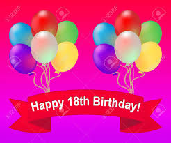 balloons for 18th birthday happy eighteenth birthday balloons meaning 18th party celebration