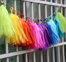aliexpress com buy 24pcs rainbow party banner kit rainbow tissue