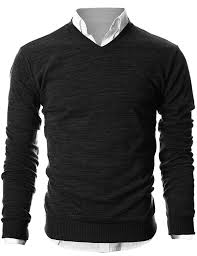 ohoo mens slim fit light weight v neck pullover sweater at