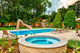 Concrete Pool Designs Ideas Captivating Inspiring A Inground Pool Exterior Designs Ideas Vinyl