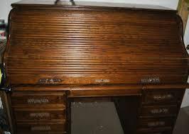 Oak Crest Desk Oakcrest Roll Top Desk W Key Nice 134638575