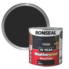 ronseal black gloss wood paint 2 5l departments diy at b u0026q