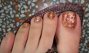 easy fall toe nail art tutorial youtube