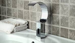 Automatic Bathroom Faucet by Aquafaucet Led Sensor Automatic Touchless Waterfall Bathroom