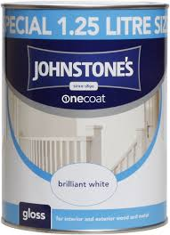 johnstone u0027s 303900 one coat gloss paint brilliant white 1 25