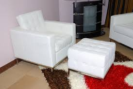 button tufted full leather sofa chair ottoman set chairs and image