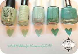 mint nail polish picks for summer opi sally hansen essie mny