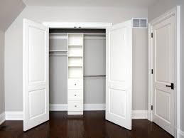 Wooden Closet Door Enchanting Design Closet Door Ideas Comes With Built In Closet And