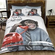Monkey Bedding Sets Cheeky Monkey Double Monochrome Black And White Bedding Sets