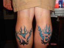 blue flame tattoos tattoo boy
