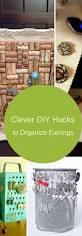 7 clever diy hacks organize earrings organized mom