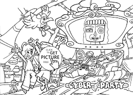 cyber party coloring pages for kids printable free cyberchase