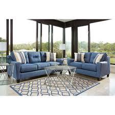 blue living room set rent ashley forsan nuvella blue 7 piece living room set