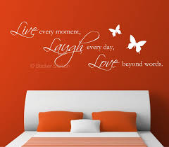 live laugh love quote butterflies wall art sticker sticker station