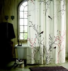 fabulous nature inspired shower curtain green leaves motifs large size of bathroom lovely nature inspired shower curtain tree branch and bird print plain