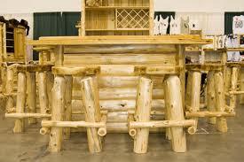 Barnwood Bar Stools Stools And Benches U2013 Marshall Products Pertaining To Log Bar