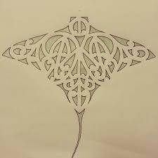 maori whai stingray design featuring kowhaiwhai