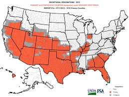 United States Drought Map by U S Declares The Largest Natural Disaster Area Ever Due To