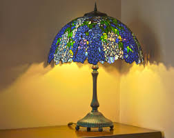 tiffany odyssey stained glass lamps and custom by azalealampstudio