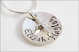 name charm necklace silver cross charm name necklace two name necklace sterling
