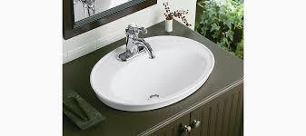 Kohler Overmount Bathroom Sinks by Standard Plumbing Supply Product Kohler K 2075 4 96 Serif Drop