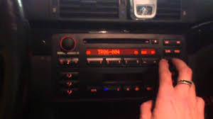 bmw e46 original business cd radio with mp3 support youtube