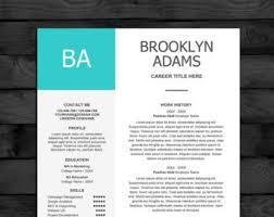 Template Resume Design Cv Design Etsy
