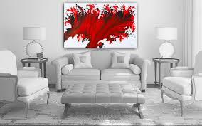 abstract art giclee red print from original artwork scarlet