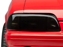 mustang headlight covers speedform mustang smoked headlight covers 80106 87 93 all free
