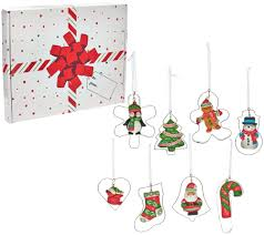 temp tations set of 8 cookie cutter ornaments with gift box page
