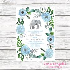 boho baby shower elephant baby shower invitation boy elephant invitation boho