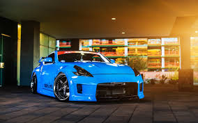 nissan 370z wallpaper nissan 370z blue car light wallpapers cars hd desktop