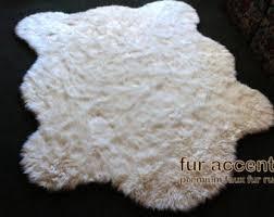 Polar Bear Fur Rug Fake Bear Skin Rug Etsy