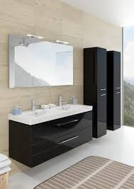 bathroom contemporary double sink vanity with modern toilet