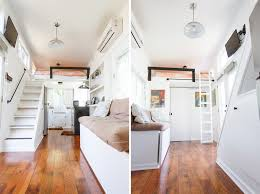 an 8 24 tiny house on wheels with two lofted sleeping quarters in