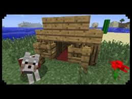 Minecraft How To Make A Bed Minecraft How To Make A Dog House Youtube