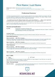 Professional Resume Examples The Best Resume by 2016 Resume Templates For Those Who Still Unemployed