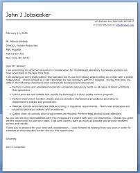 ideas collection sample cover letter for laboratory technologist