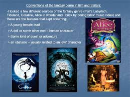 fantasy film genre conventions definition of a trailer a short promotional film composed of