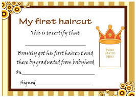 certificate free templates 20 free baby u0027s first haircut certificate templates attractive