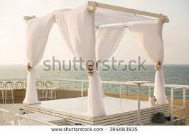 wedding chuppah wedding chuppah israel stock photo 364683935