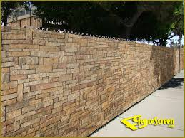Cheap Backyard Fence Ideas by Cheap Fence Ideas Pre Printed Designs On Fence Screen