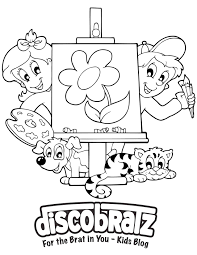 discobratz u2013 coloring pages click to print coloring fun