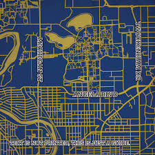 Northeastern Campus Map University Of Notre Dame Campus Map Art City Prints
