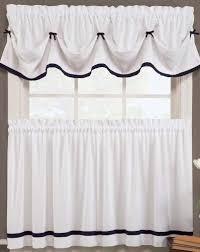 Black And White Draperies Black And White Kitchen Curtains Amazon Com