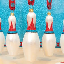 bowling pin ornament by ornaments to remember