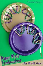 mardi gras paper mardi gras paper plate tambourine