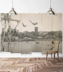 eclectic provincial country murals milton king usa manly high dive wall mural from the erstwhile collection
